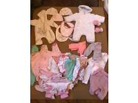 Tiny / Small Baby Girls Clothes / Bundle