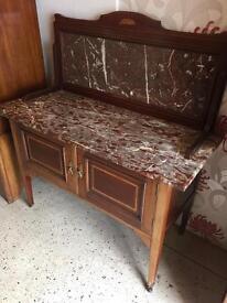 Italian marble wash stand