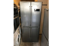 Sandstrom SFF4DS12 Stainless Steel American Style Fridge Freezer with 3 Month Warranty