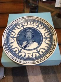 Please find a Wedgwood plate of Queen Elizabeth 1952-2002