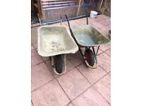 wheelbarrows for building