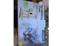 Plush Cat Scratching Post with Box