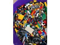 Large bucket of mixed Lego