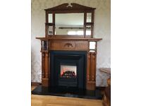 Fireplace and Mirror