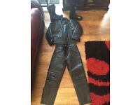 Womens motorbike leathers and boots