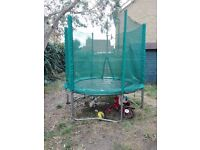 Trampoline (8ft i believe), good condition. collection chingford