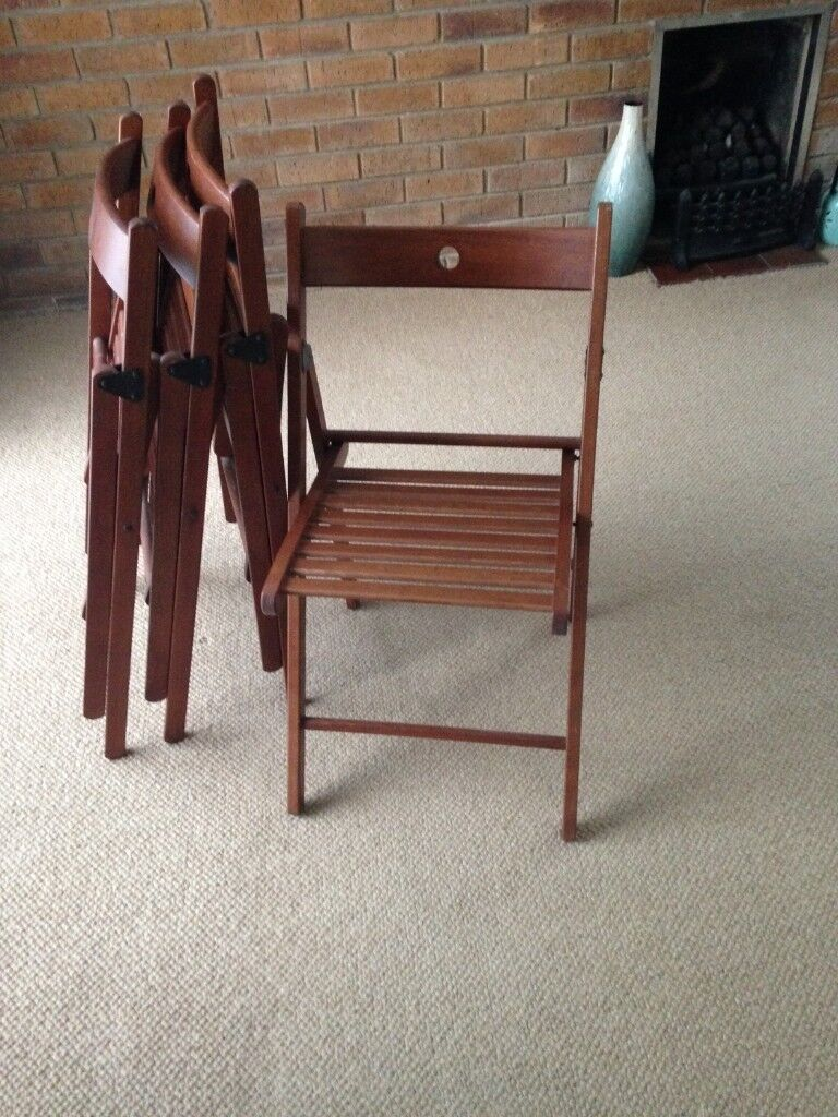 Set Of Four Folding Chairs In Northampton Northamptonshire Gumtree