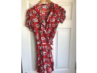 Topshop Poppy wrap summer dress size 12
