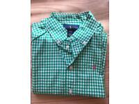 Boys Ralph Lauren Shirt (green and white) age 4