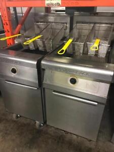 Two big 90lb gas frymaster fryers in excellent condition!
