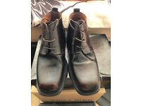 Mens Moto Brown Leather Boots Size 40 '6' Uk like new condition