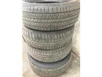 4x 245/65/17 part worn tyres 6mm even tread