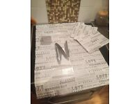 Wedding wrapping paper sheets x4 & a pull bow