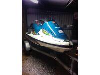 Suzuki tiger shark 640 2 stroke jet ski with trailer