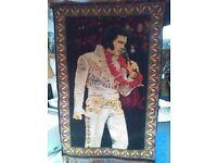 Vintage ' ELVIS in Hawaii ' wall hanging
