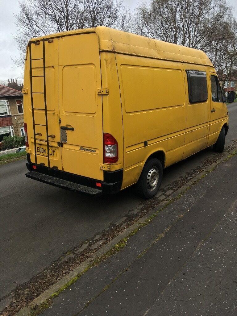 Yellow Mercedes Sprinter Van 2004