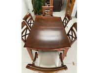 Real wood Furniture Village Dining table and 6 chairs