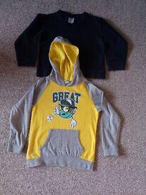 3-4 years hoodie and navy jumper bundle