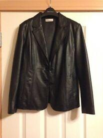 Womans leather jacket UK14