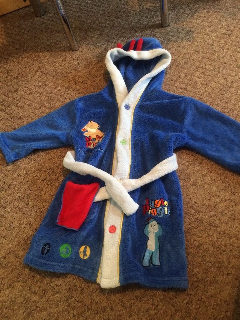 kids character dressing gown