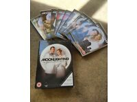 Moonlighting complete seasons 1-5 box set of 9 DVDs. Like new
