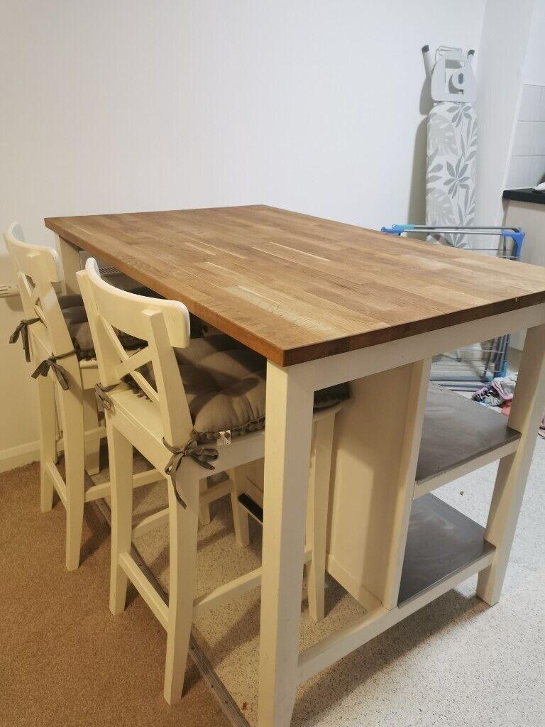 Breakfast Bar Kitchen Island With 2 Stools Ikea In Edinburgh Gumtree