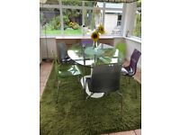 Rug extra large 200 x 290 cm green