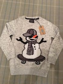 NEXT CHRISTMAS JUMPERS AGE 7 and AGE 8 one still has tags other worn once