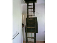 Antique extending loft ladder 1923