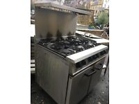 Commercial Catering Gas Oven with 6 Burner Gas Hob