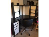 IKEA MICKE Corner workstation - Extra drawer unit included!