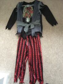 Zombie pirate costume/dressing up outfit age 5-6