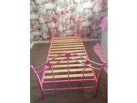 Kids pink single bedframe