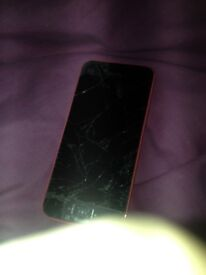 *Need new screen or for parts* IPhone 5c Pink