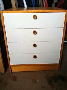 "Oakville ONE ONLY Bedside Table Small Dresser White Drawers Ikea Assembled 20x25x28"" Nightstand Bedroom Chest Storage"