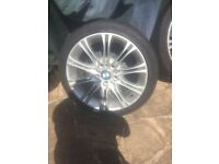 4 BMW wheels and tyres 225/40/18
