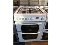 HOTPOINT CREDA 60CM ALL GAS COOKER IN WHITE
