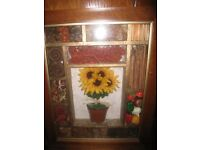 Beautiful Spanish Framed Vegetable/Spice Picture for Kitchen/Dining