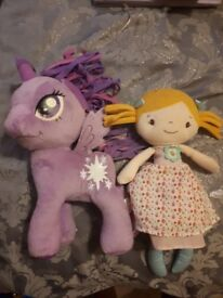My little pony and doll