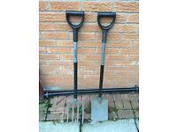 Fiskars garden fork and shovel