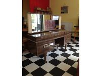 Wonderful 1950s dressing table large with plenty of storage space and large mirror