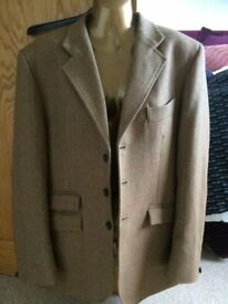 Mens Le Beau Cheval Mustard Wool Tweed Tailored Show Jacket Blazer Size 42