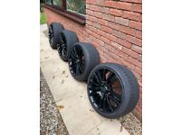 """Set of used Range Rover Sport 20"""" alloys with tyres"""