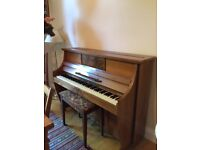 Waldberg wooden Piano, good condition. BUYER MUST COLLECT