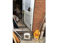 Double glazing unit with catflap 1800x400 x 24mm