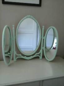 Vintage bright Green dressing table mirror