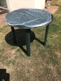 New packaged pvc table