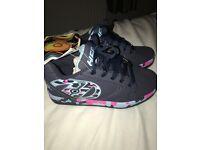 Heelys Propel 2.0 - Navy/Pink/Light Blue/Confetti - UK Size 2 - Brand New in Box