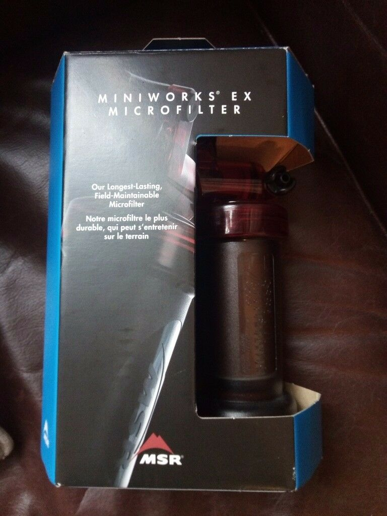 Microfilter for drinkable water from natural sources Retailing at £89.25