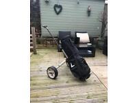 Callaway golf bag and trolley